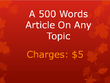 Write a 500 words article on any topic