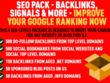SEOPack Backlinks, WEB 2.0s, Social Signals / Bookmarks from PR9