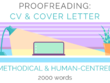 Proofread & edit your CV & cover letter - up to 2000 words
