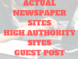 Write And Publish 1 Guest Post On An Actual Newspaper