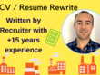 Freshly Crafted CV / Resume written by Recruiter within 3 days
