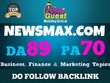 Publish a PREMIUM Guest Post on Newsmax.com Da89, Pa70 newsmax