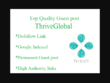 I Will Write And Publish A Guest Post On Thriveglobal