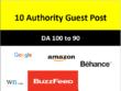 10 Guest Post (DA100) Google, Amazon, WN.com, EDU sites [Bonus]