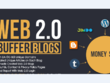 Handmade 10 Web 2.0 Buffer Blog with Login,Content, Image, Video