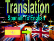 Translate 1500 words Spanish to English(Highest 2000 Words)