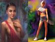Draw digital portrait from photo