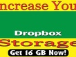 Upgrade your Dropbox Storage up to 16GB Permanently
