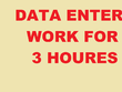 DO all type of data entry work easy  with  in 2 hours