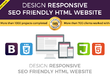 Design a responsive seo friendly website using HTML Bootstrap