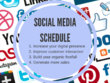 Create you a social media schedule