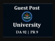 I Will Dofollow Guest Post On Da 92 University Blog