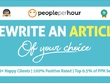 Rewrite an article of your choice - any subject, any style