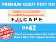 Publish a guest post on Escape Artist - EscapeArtist.com - DA62