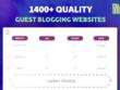 Send a Massive List of 1,400+ Quality Guest Blogging Websites