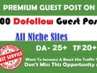 Guest Post 100 dofollow websites - all niches