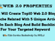 Create 10 Web 2.0 Blog With Unique Article