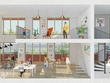 Make a rendered illustration for interior or architecture