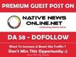 Publish a Guest post on NativeNewsOnline.net - DA 58