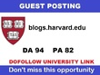 Guest post on harvard edu university blog (harvard.edu) ,DA 94