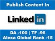 Publish Guest Post On Linkedin.com - DA100, TF97
