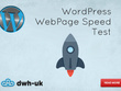 WordPress WebPage Speed Test
