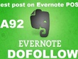 Guest post on Evernote DA 92 PA92 , TF82 dofollow blog