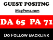 Publish a guest post on MagPress.com - DA 62, TF 44 do follow