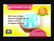 I will write and guest post on my insurance blog