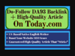 I will publish a guest post on today da93 backlink