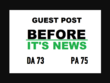 I Will Publish Guest Post On Beforeitsnews