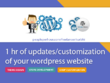Provide 1 hr of customization/updates to your Wordpress website