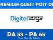 Write & Publish Guest Post on Digitaledge.org - DA 58