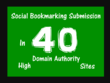 Social Bookmarking Submission Manually To Top 40 Sites