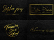 Design luxury modern signature logo for your brand in vector