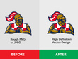 Convert your design/logo into Vector + Free Source files