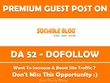 Publish Guest Post on SociableBlog.com - DA 52 PA 54