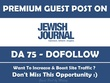 Guest post on Jewish Journal - Jewishjournal.com - DA 75 TF 62