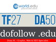 Publish a guest post on world.edu, a DA50, TF26,  .edu blog