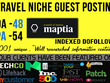 Guest post on travel site Maptia. com with a Do-Follow BackLink
