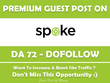 Publish Guest Post on Spoke. Spoke.com - DA 72