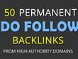 SEO DOMINATION! - 50 Permanent DO FOLLOW backlinks