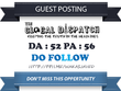 Publish Guest Post on Theglobaldispatch.com DA 52 Dofollow