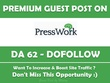 Publish a Guest Post on Presswork.me - DA 61 PA 72
