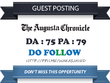 Publish Guest Post on Chronicle.Augusta.com - DA 75 Dofollow