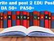 2x write and publish EDU guest posts DA 50+ with Dofollow links