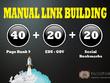 Build 40+ PR9-PR8 + 20+ EDU/GOV + 20+ Social Bookmarking