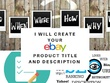 Write one eBay listing product description and title