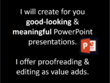Make good-looking & meaningful PowerPoint presentations