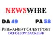 Provide guest post on Newswire.net